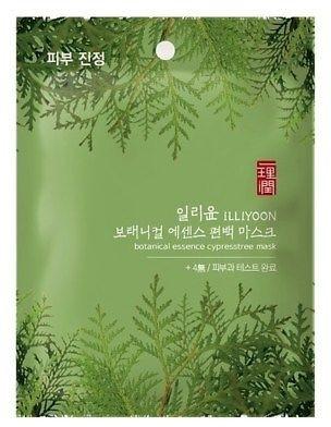 Маска тканевая освежающая для лица с экстрактом кипариса ILLIYOON Botanical Essence Cypress Tree Mask 23g 2 - Фото 2