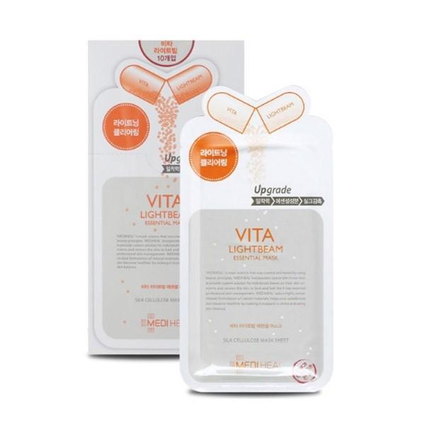 Маска тканевая для сияния кожи и выравнивания тона с витаминами Mediheal Vita Lightbeam Essential Mask 25ml 0 - Фото 1