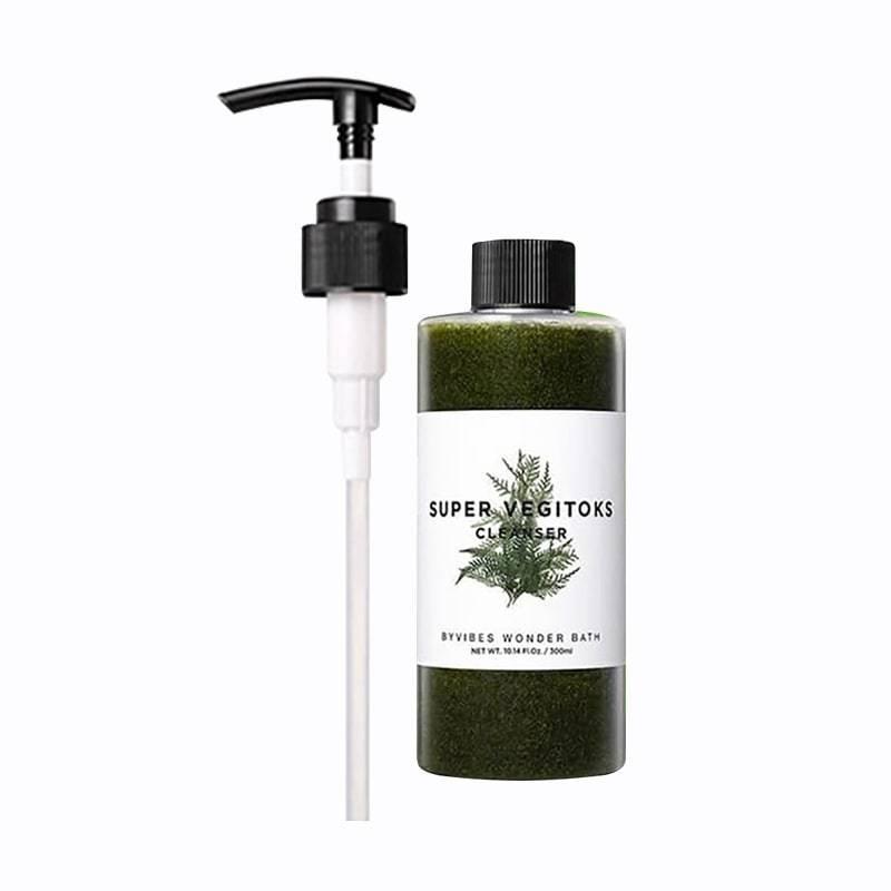 Детокс-гель для умывания увлажняющий с экстрактом хлореллы Wonder Bath Super Vegitoks Cleanser Green 200ml 0 - Фото 1