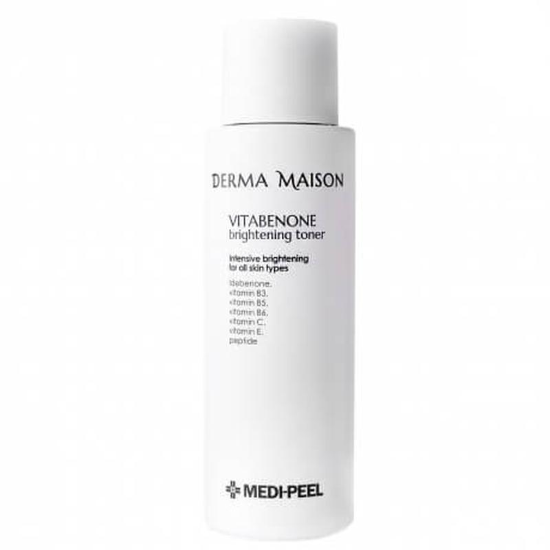 Антивозрастной осветляющий тонер с идебеноном Medi-Peel Derma Maison Vitabenone Brightning Toner 250ml 2 - Фото 2