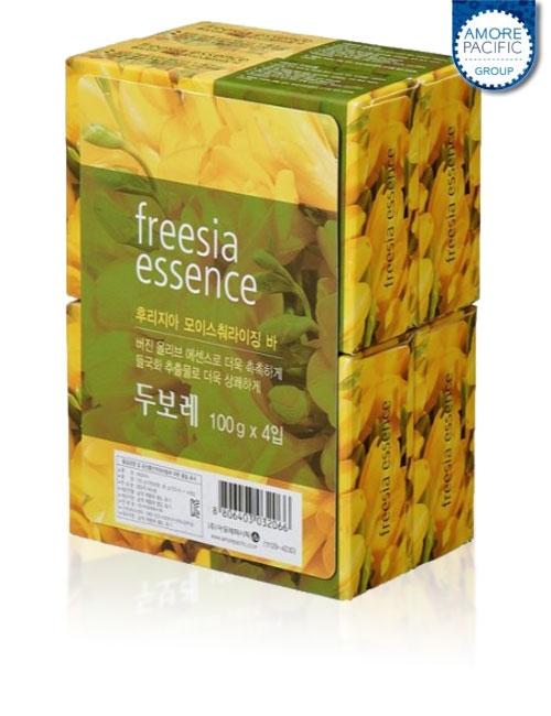 Твердое мыло, антибактериальное, с экстрактом фрезии  Amore Pacific Freesia Essence Soap 100g 1 - Фото 2