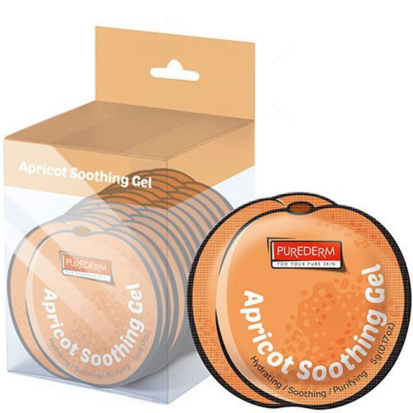 Маска-гель с экстрактом абрикоса для уставшей и раздраженной кожи Apricot Soothing Gel PUREDERM 5ml 0 - Фото 1