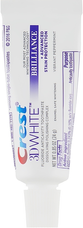 Паста зубная отбеливающая Crest 3D White Brilliance Vibrant Peppermint Whitening Toothpaste 2 - Фото 2
