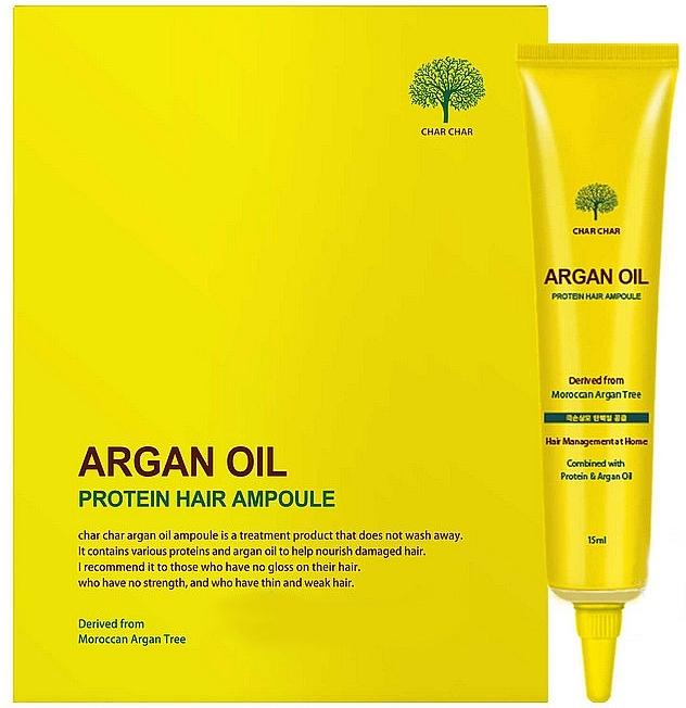 Сыворотка для волос восстанавливающая с аргановым маслом Evas Char Char Argan Oil Protein Hair Ampoule