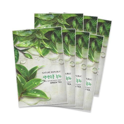 Тканевая Маска С Зеленым Чаем Nature Republic Real Nature Green Tea Mask Sheet 23ml  0 - Фото 1