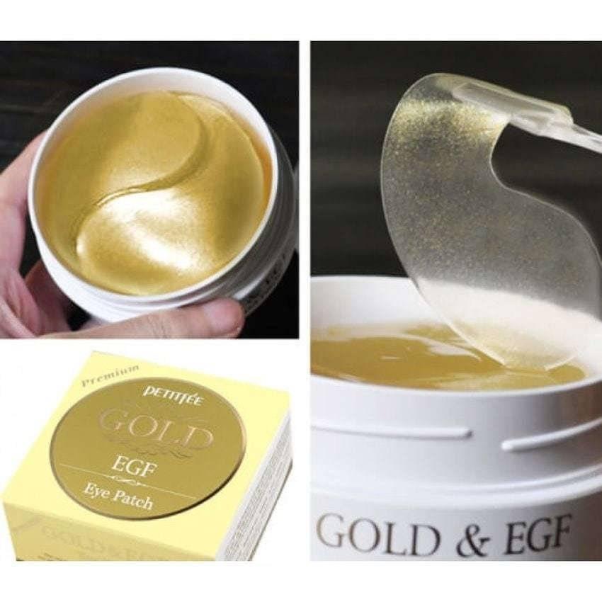 Патчи Премиальные Гидрогелевые C Коллоидным Золотом Эпидермальный Фактором Роста Petitfee GOLD Premium EGF Eye Spot Patch 0 - Фото 1