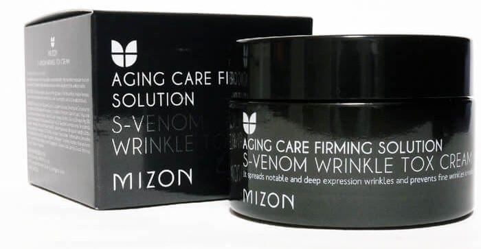 Крем для лица антивозрастной со змеиным ядом S-Venom Wrinkle Cream Mizon 50ml 2 - Фото 2