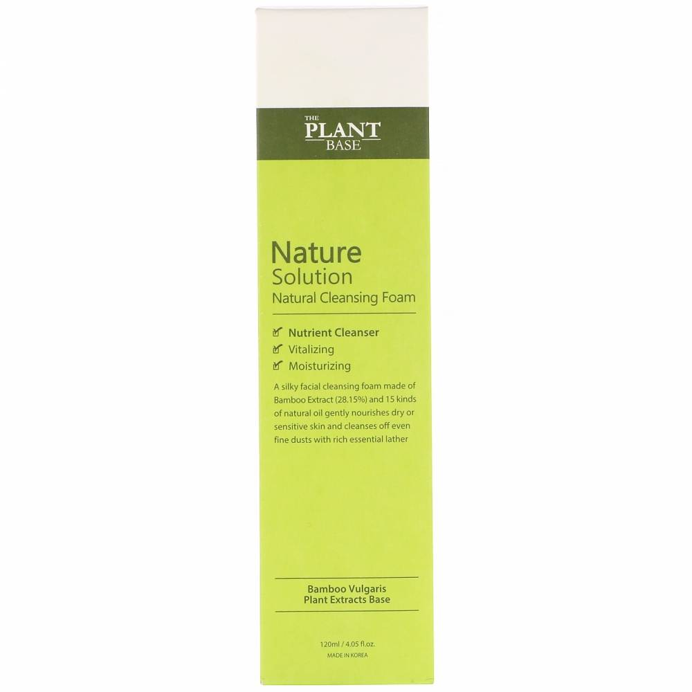 Пенка Для Умывания С Экстрактом Бамбука The Plant Base Nature Solution Natural Cleansing Foam 120ml 1 - Фото 2