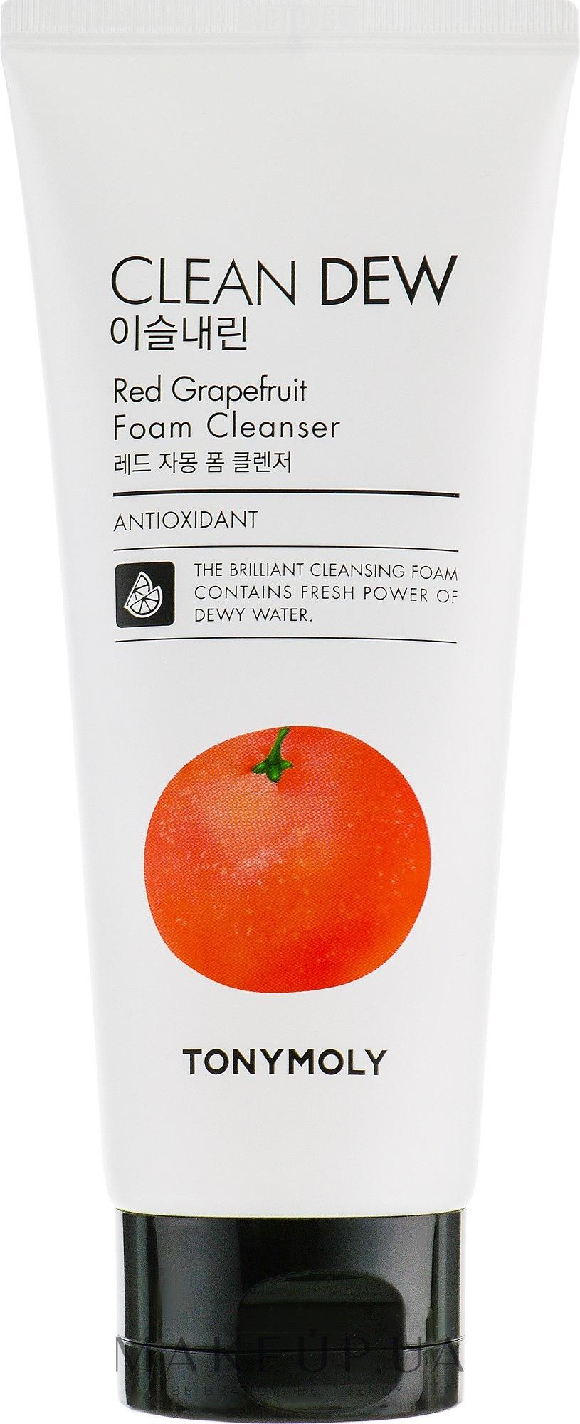 Пенка для умывания с экстрактом грейпфрута Tony Moly Clean Dew Foam Cleanser Grapefruit 180ml 0 - Фото 1