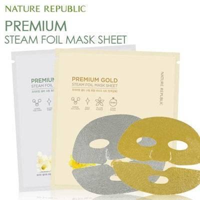 Премиальная Омолаживающая Маска С Морским Коллагеном И Коллоидным Золотом Nature Republic Premium Gold Steam Foil Mask Sheet  0 - Фото 1