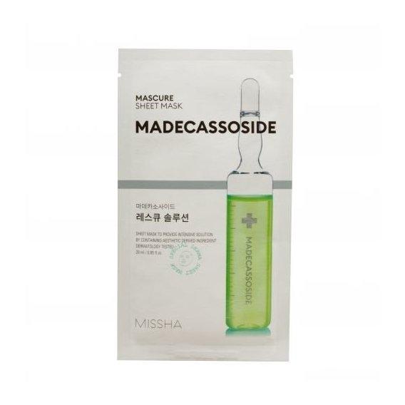Маска Для Лица Успокаивающая С Мадекассосидом Missha Mascure Rescue Solution Sheet Mask Madecassoside 27ml 0 - Фото 1