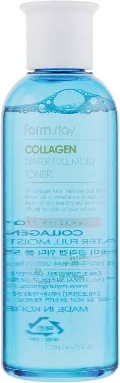 Тонер для увлажнения и упругости кожи с коллагеном FarmStay Collagen Water Full Moist Toner 200ml