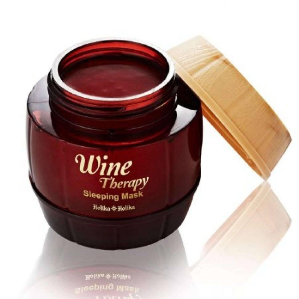 Антивозрастная Маска С Экстрактом Красного Вина Holika Holika Wine Therapy Sleeping Mask Red Wine 0