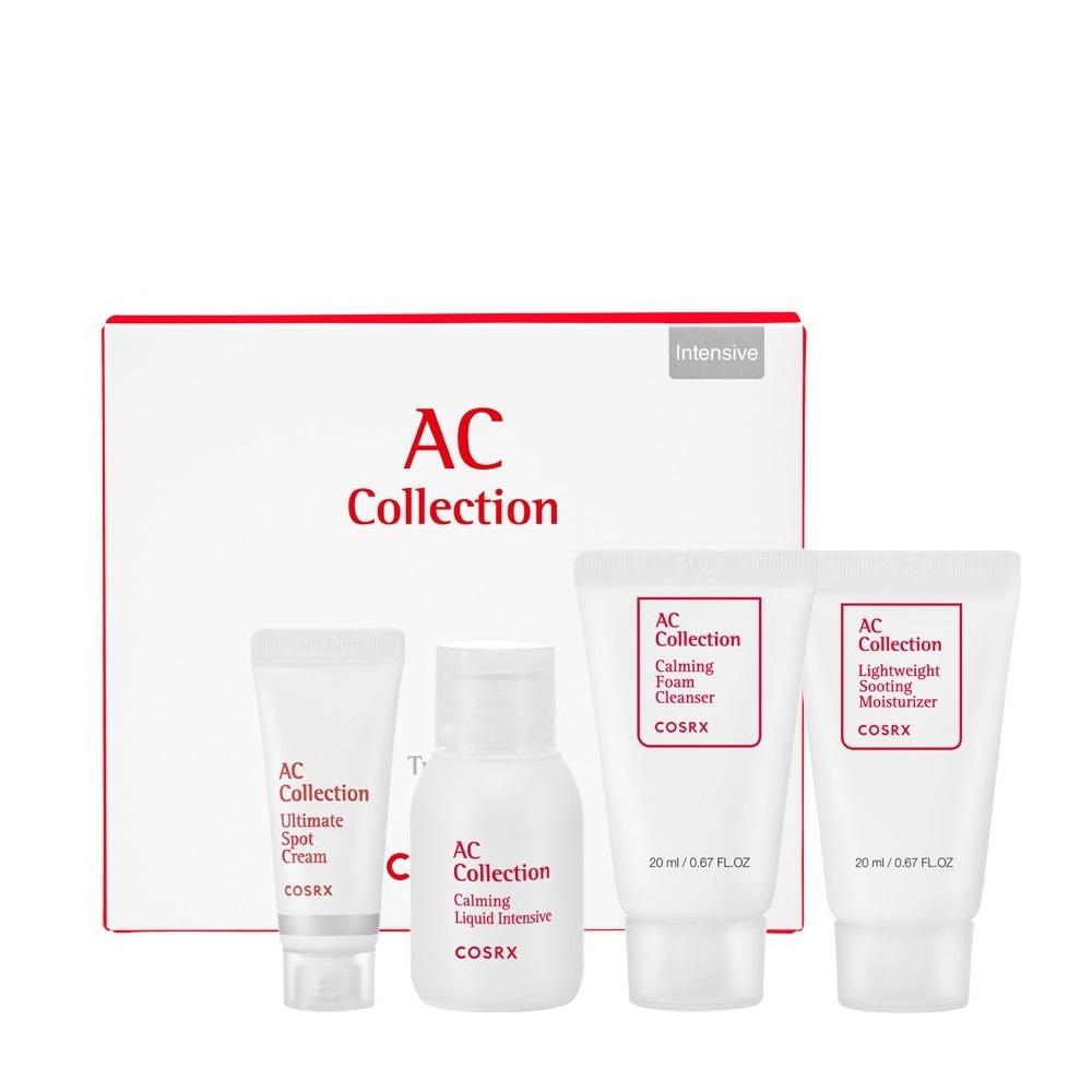 Набор для жирной и проблемной кожи: тонер, точечный крем, пена для умывания и крем для лица Cosrx AC Collection Trial Kit_Oily Skin_Intensive (4 step) 75ml 2 - Фото 2