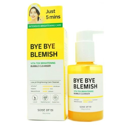 Маска-пенка для лица кислородная Some By Mi Bye Bye Blemish Vita Tox Brightening Bubble Cleanser 120ml 0 - Фото 1