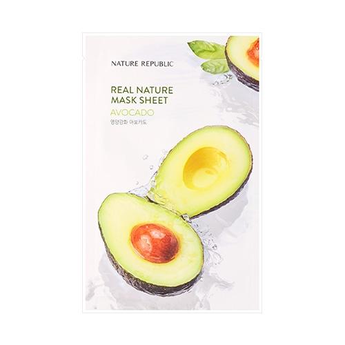 Увлажняющая тканевая маска с маслом авокадо Nature Republic Real Nature Mask Sheet/ Avocado 23ml 0 - Фото 1