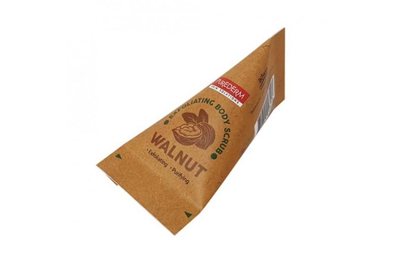 Скраб для очищения чувствительной кожи с ореховой пудрой Exfoliating Body Scrub WALNUT PUREDERM 20ml 2 - Фото 3