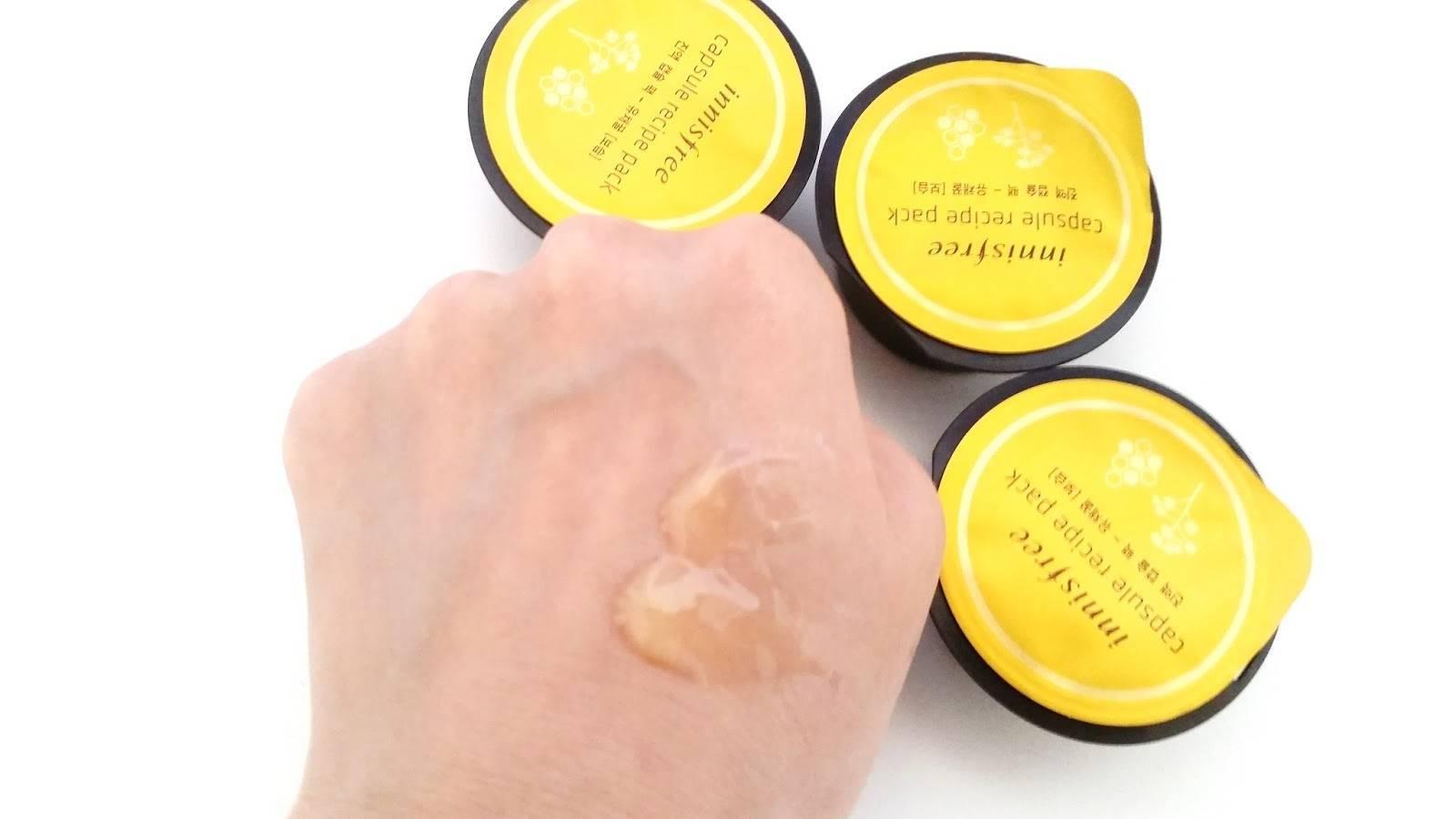 Питательная Капсульная Маска С Рапсовым мёдом Innisfree Capsule Recipe Pack Canola Honey