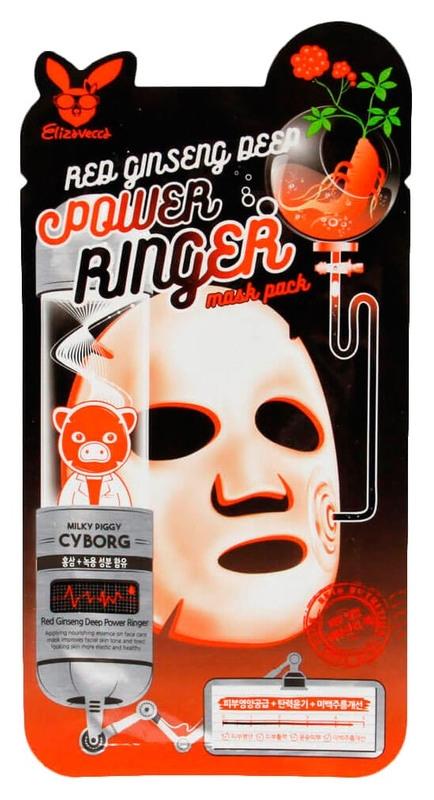 Маска омолаживающая с женьшенем Elizavecca Face Care Red Ginseng Deep Power Ringer Mask Pack 23ml 0 - Фото 1