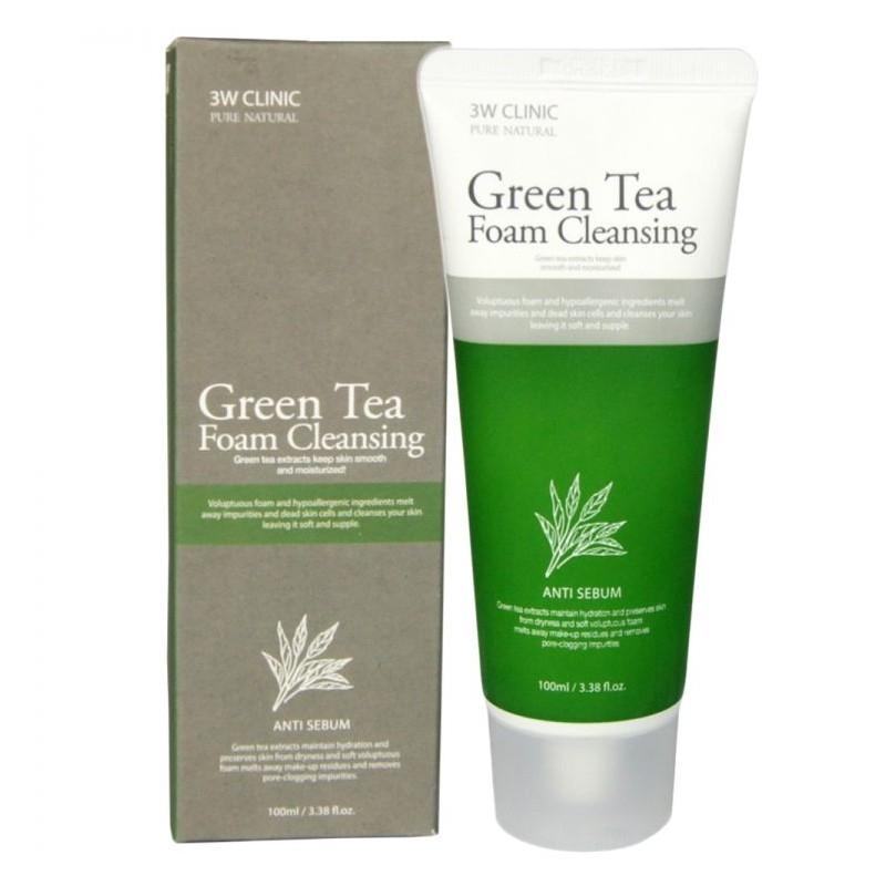 Пена Для Умывания С Экстрактом Зеленого Чая 3W Clinic Green Tea Cleansing Foam  0 - Фото 1