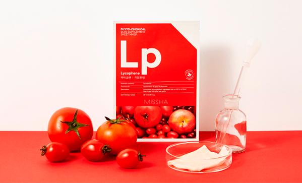 Тканевая маска с ликофеном для выравнивания тона и пилинга кожи Missha Phytochemical Skin Supplement Sheet Mask Laycophene/Peeling Tone Up 25ml 2 - Фото 2