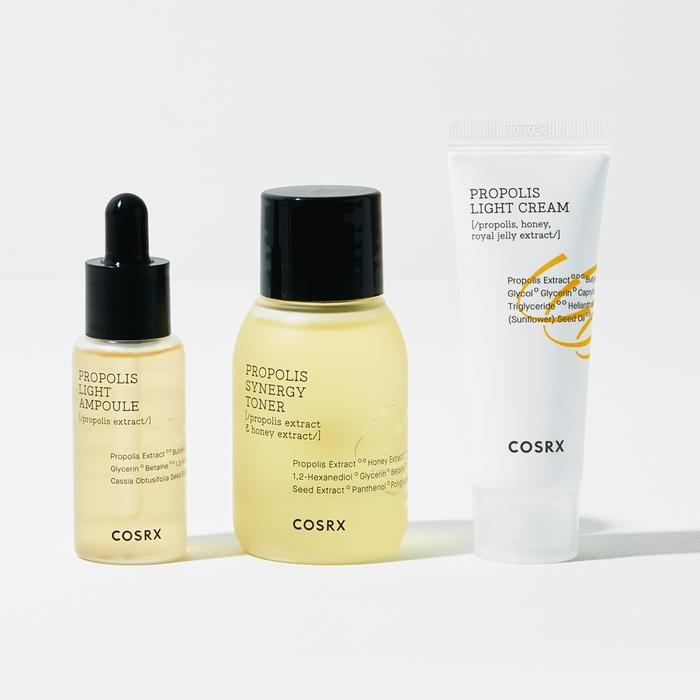 Набор: тонер, сыворотка и крем успокаивающие с экстрактом прополиса Cosrx Honey Glow Kit (3 step) 55ml 2 - Фото 2