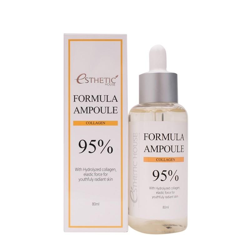 Сыворотка омолаживающая с коллагеном Esthetic House Formula Ampoule Collagen 80ml 1 - Фото 2