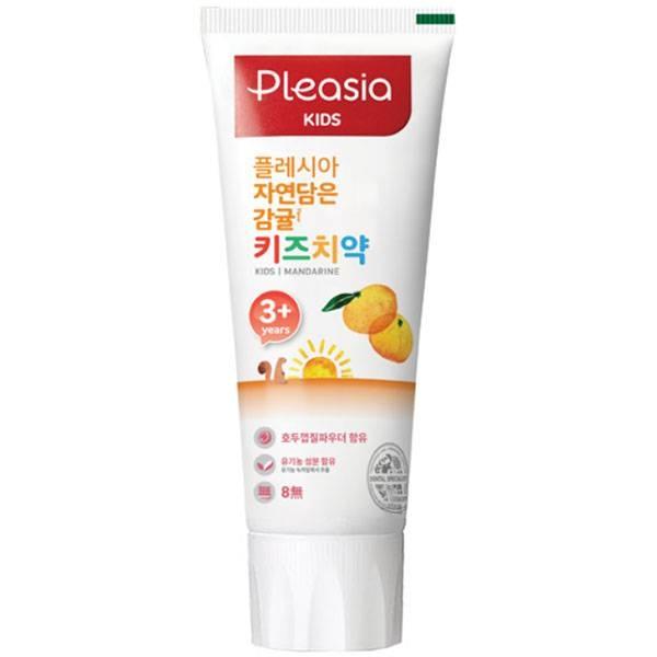 Детская зубная паста со вкусом мандарина Pleasia Kids Toothpaste Mandarine 80ml 2 - Фото 3
