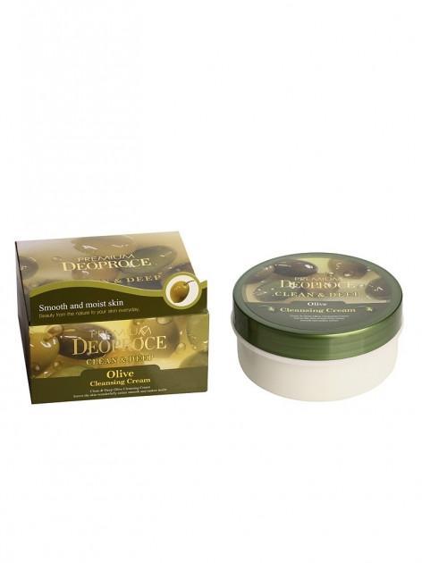 Крем очищающий с экстрактом оливы Deoproce Premium Cleen and Deep Olive Cleansing Cream 300ml 0 - Фото 1