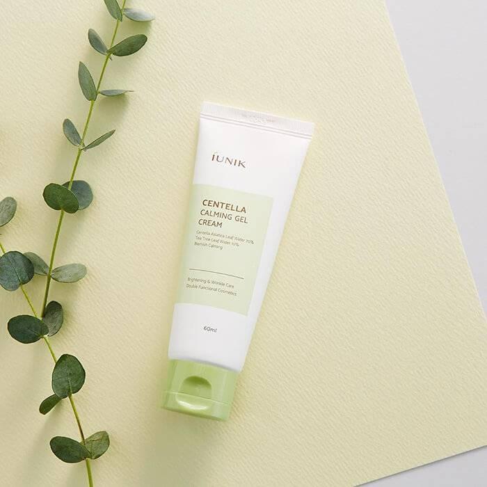 Крем-гель для чувствительной кожи лечащий интенсивно успокаивающий с экстрактом центеллы IUNIK Centella Calming Gel Cream 60ml 2 - Фото 3