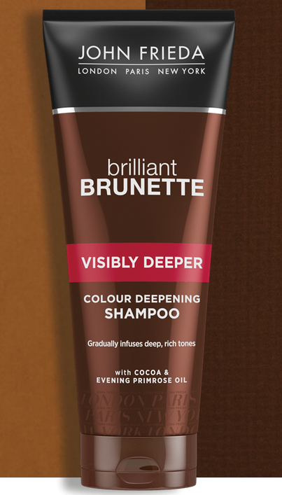 Шампунь для создания насыщенного цвета темных волос с экстрактом какао John Frieda Brilliant Brunette Visibly Deeper Shampoo 250ml 3 - Фото 3