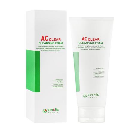 Пенка увлажняющая для умывания для проблемной кожи лица Eyenlip AC Clear Cleansing Foam 150ml 0 - Фото 1