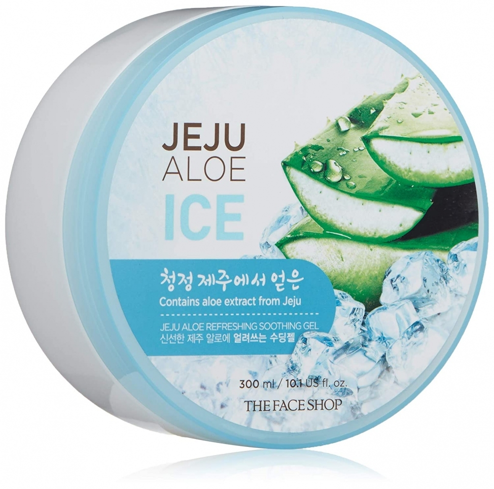 Гель освежающий с алоэ для лица и тела The Face Shop Jeju Aloe Refreshing Soothing Gel 300ml (ICE)) 2 - Фото 2