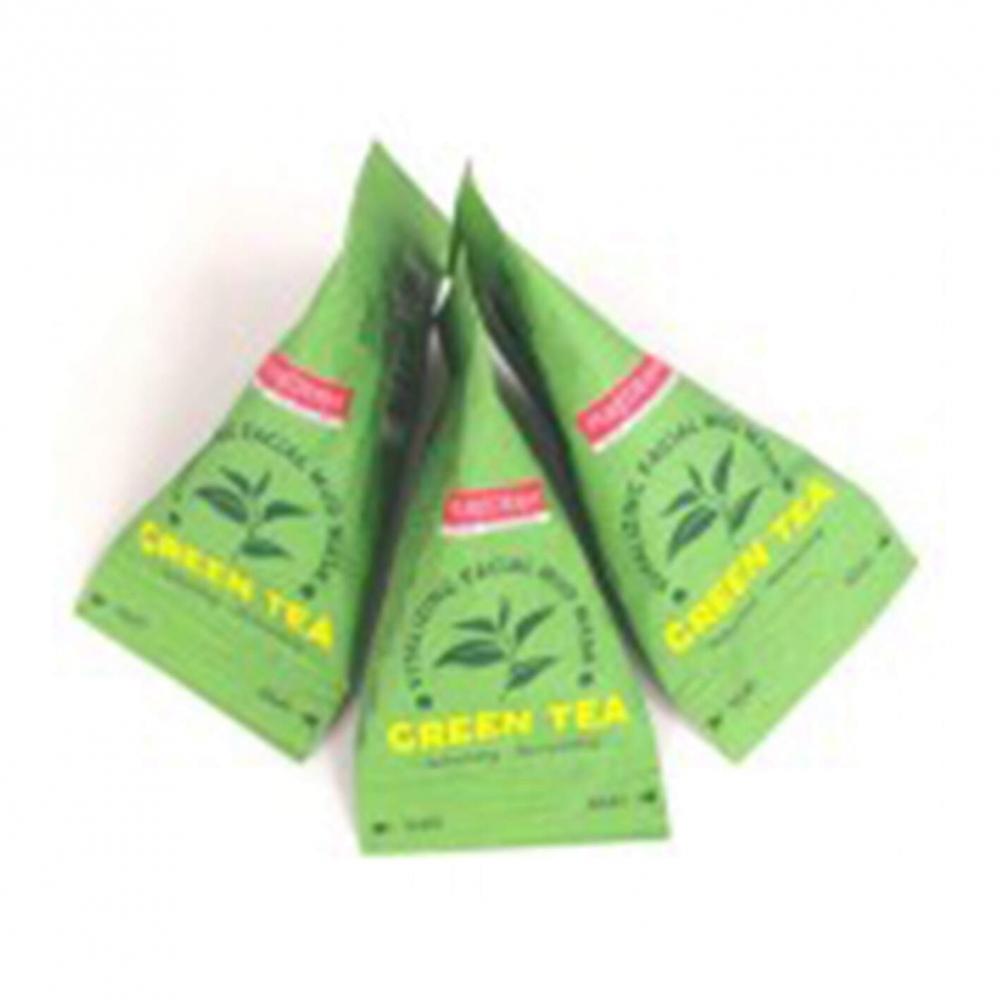 Маска на основе глины с увлажняющим и освежающим эффектом Green Tea Vitalizing Facial Mud Mask PUREDERM 20ml 0 - Фото 1