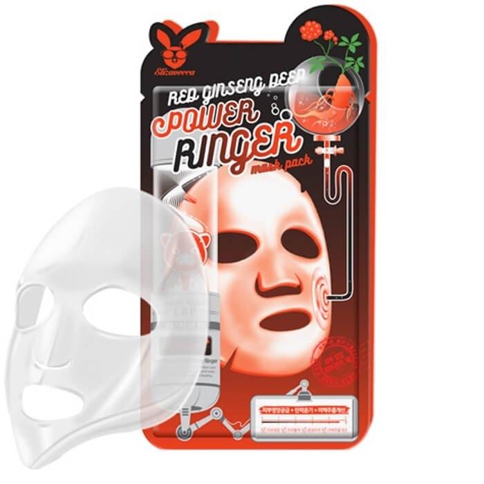 Маска омолаживающая с женьшенем Elizavecca Face Care Red Ginseng Deep Power Ringer Mask Pack 23ml 3 - Фото 3