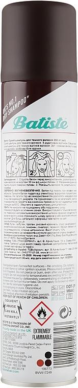 Шампунь сухой бессульфатный для волос Batiste Dry Shampoo Dark and Deep Brown a Hint of Color 200ml 2 - Фото 2