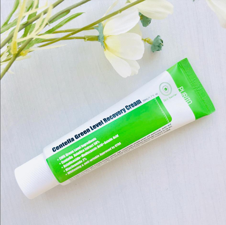 Крем Увлажняющий Успокаивающий С Экстрактом Центеллы PURITO Centella Green Level Recovery Cream