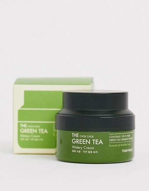 Успокаивающий крем с экстрактом зеленого чая Tony Moly The Chok Chok Green Tea Watery Cream 60ml