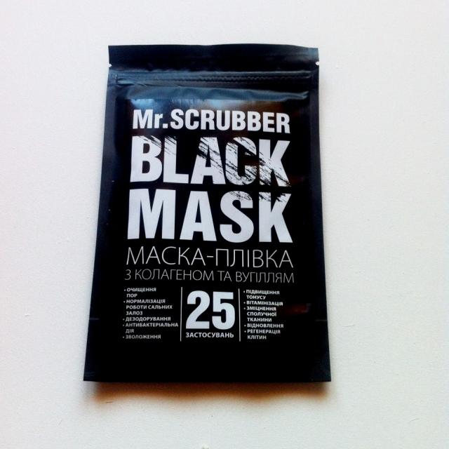 Маска альгинатная с коллагеном и углем для лица Mr.Scrubber Black Mask 40g 0 - Фото 1