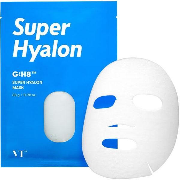 Маска тканевая ампульная увлажняющая с гиалуроновой кислотой для лица Vt Cosmetics Super Hyalon Mask 28g 0 - Фото 1