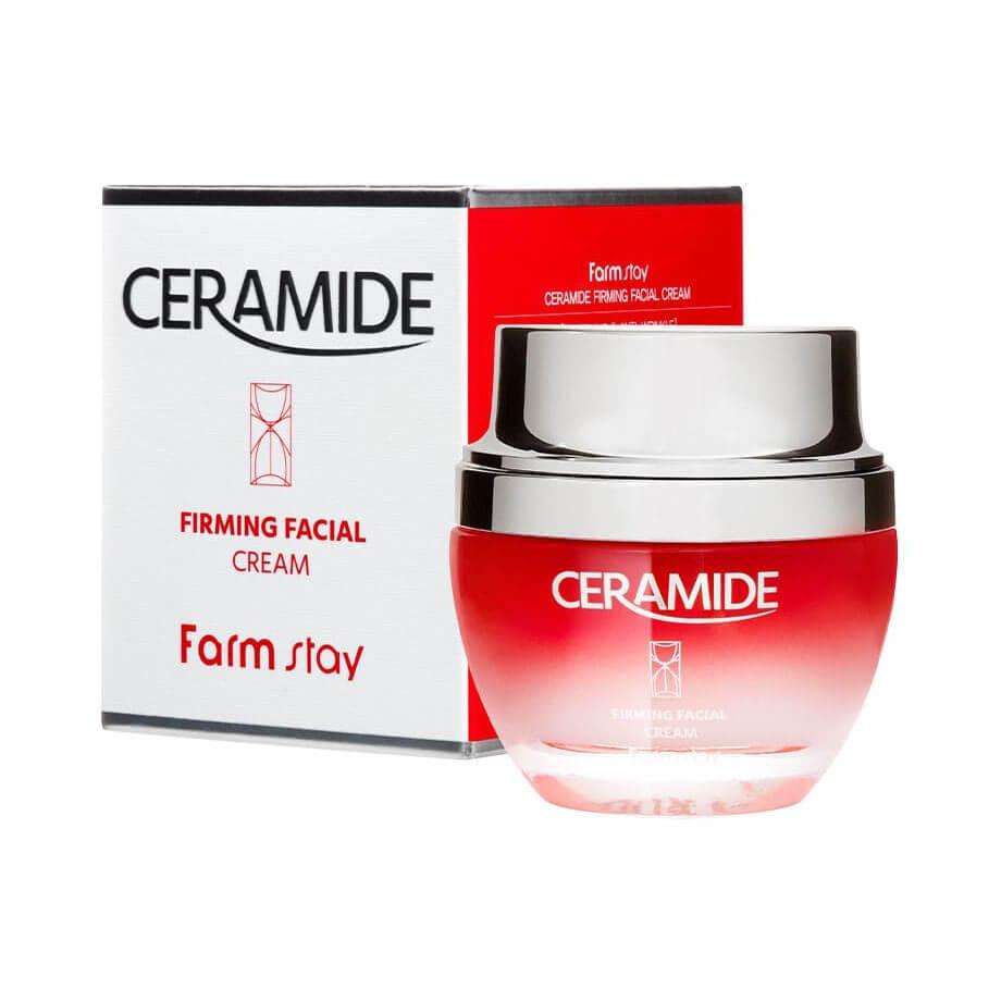 Набор косметических продуктов для увлажнения и омоложения кожи. Тонер+эссенция+крем с керамидами FarmStay Ceramide Firming Facial 230ml
