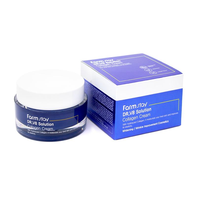 Интенсивно увлажняющий крем с коллагеном для лица FARMSTAY Dr.V8 Solution Collagen Cream 50ml 2 - Фото 2