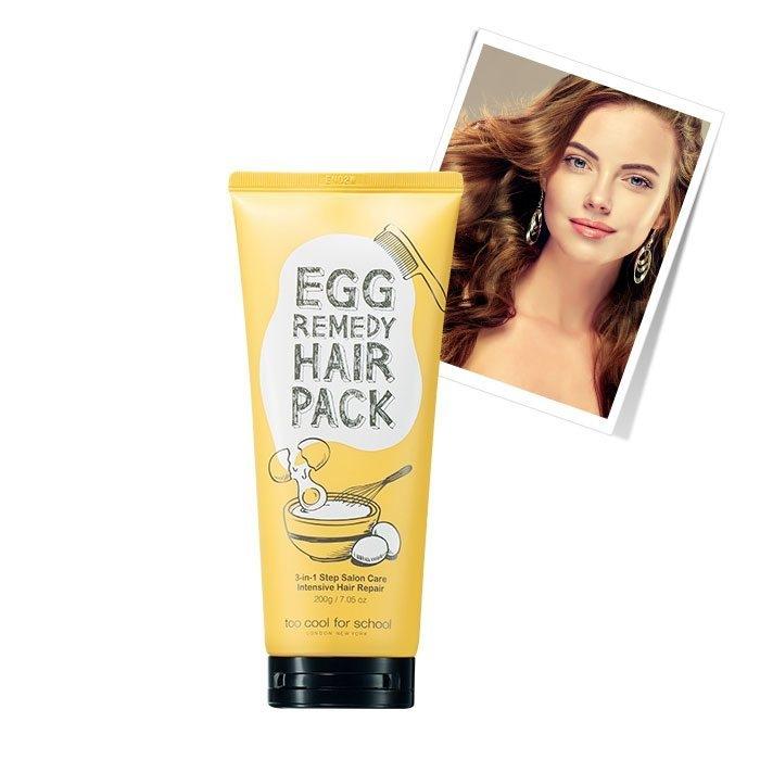 Питательный шампунь-маска на основе яичных экстрактов для волос Too Cool For School Egg Remedy Pack Shampoo  0 - Фото 1