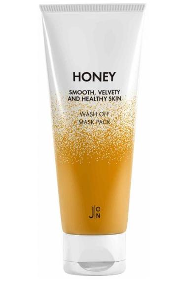 Маска смываемая с мёдом для лица J:ON Honey Smooth Velvety And Healthy Skin Wash Off Mask 50g 3 - Фото 3