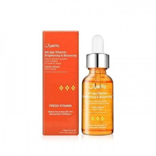 Сыворотка Высоконцентрированная Укрепляющая С Экстрактом Облепихи Jumiso  All Day Vitamin Brightening  Balancing Facial Serum 30 ml