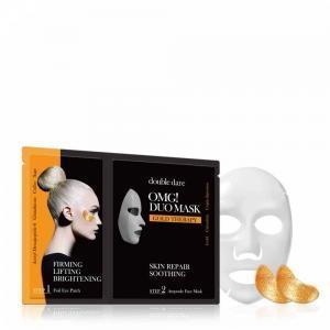 Патчи тонизирующие с кофеином Double Dare OMG! Foil Eye Patch Gold Treatment 6ml 2 - Фото 2
