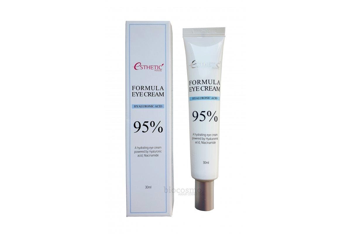 Крем увлажняющий для кожи вокруг глаз с гиалуроновой кислотой и ниацинамидом Esthetic House Formula Eye Cream Hyaluronic Acid 95%, 30ml 2 - Фото 2