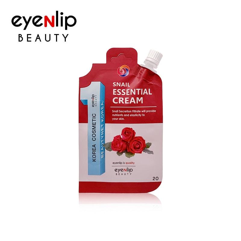 Крем восстанавливающий с муцином улитки для лица Eyenlip SNAIL ESSENTIAL CREAM 20ml 0 - Фото 1