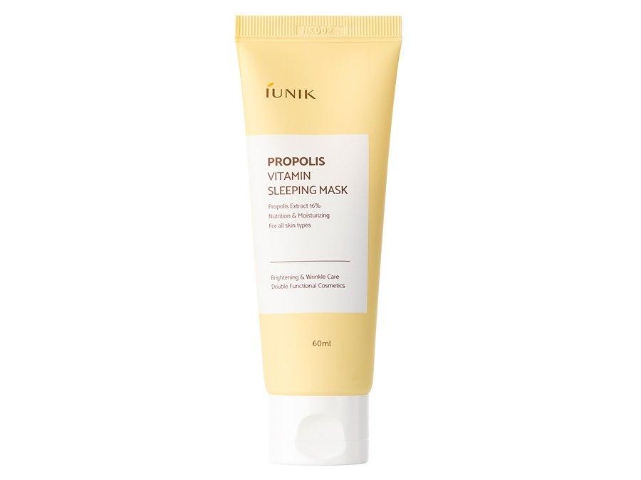 Маска ночная для комплексного оздоровления кожи с прополисом и экстрактом облепихи IUNIK Propolis Vitamin Sleeping Mask 60ml 0 - Фото 1