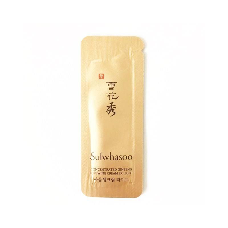 Крем омолаживающий с экстрактом женьшеня Sulwhasoo Concentrated Ginseng Renewing Cream EX Light 5ml 3 - Фото 2